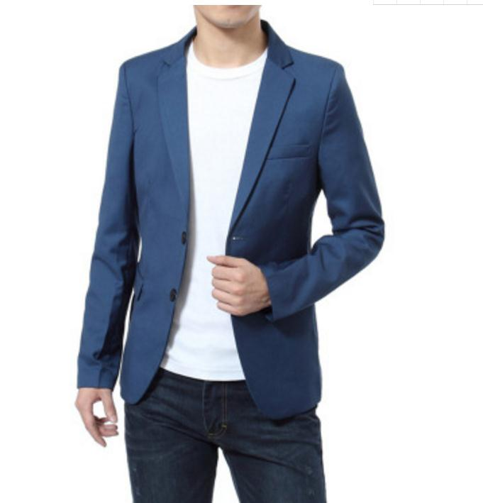 2018 Mens Casual Small Suit Jacket bust 120cm 6XL Business Fashion Joker Slim Suit Teen British College Wind Small Suit Jacket