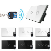 Vhome AU US 1gang Smart Switch RF433MHZ Touch Switch Wall With Remote Control AC110 240V 1