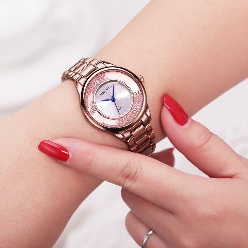 ODRODZENIE Top Brand Luxury Gold Strap Bransoletka kobiety zegarki - Zegarki damskie - Zdjęcie 3