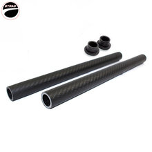 Carbon Fiber 22mm Handlebar Handle Bar Clip On Rods Replacement Motorcycle RACING MOTO 2 pcs