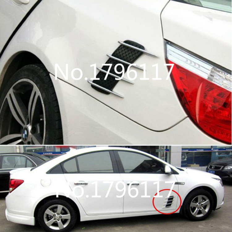 US $11 75 20% OFF|Car styling Car Body Stickers Conversion Accessories  Universal Shark Gills Simulated Decorative Fake Side Air Vents Flow  Outlets-in