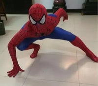 spiderman costume kids 3d girl child spider man mask costume suit boys spandex black red adult men Cosplay christmas gift favors