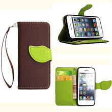 I5 Premium Quality PU Leather Case For Apple Iphone 5 5S SE Flip Wallet Case Book Stand Card Slot Phone Cases