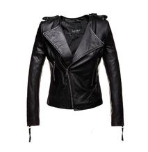 2018 New Women Real leather jackets and coat Genuine leather jacket Spring autumn red black brown S-XXL sheepskin without collar