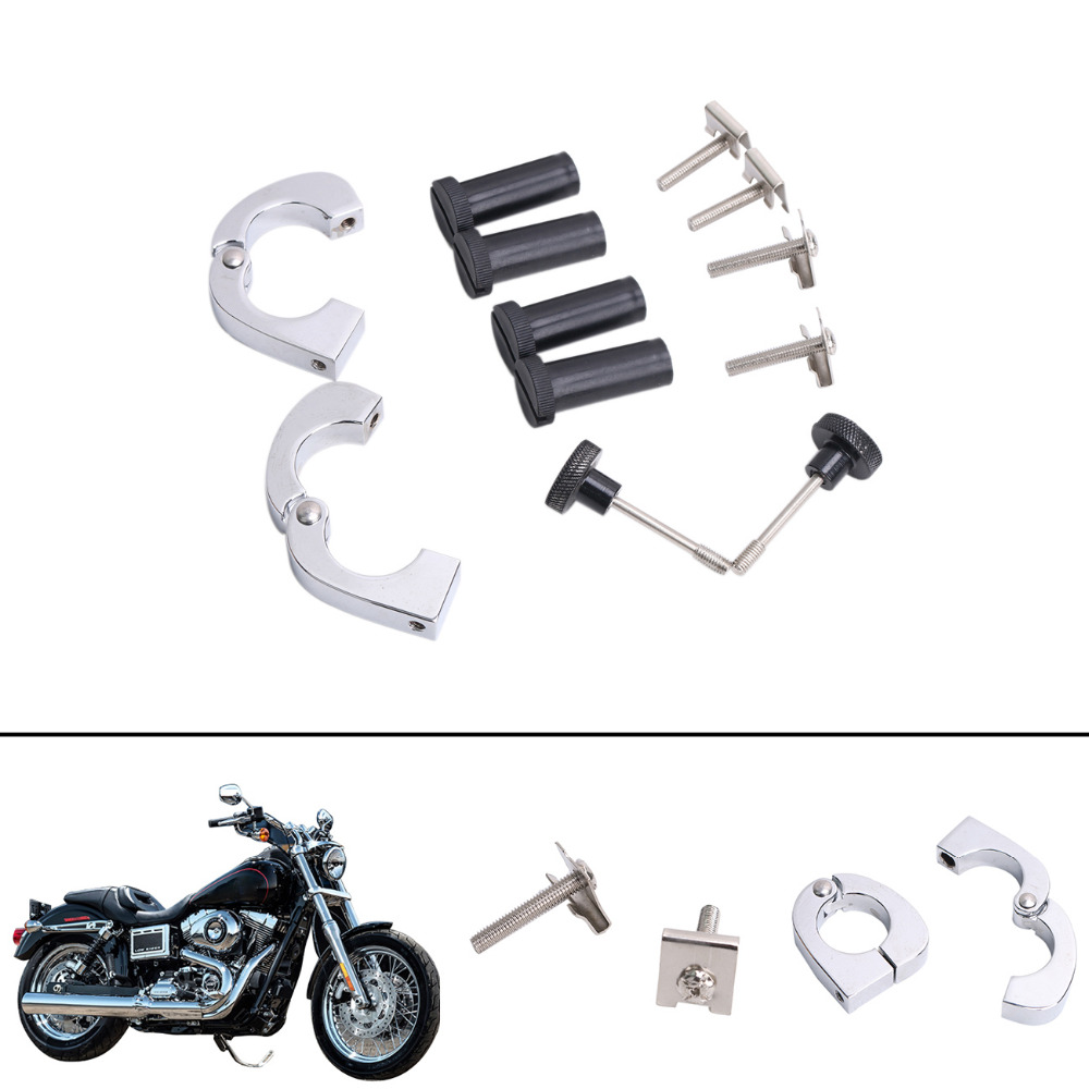 1 Set Lower Vented Fairings Quick Release Mounting Hardware Screw Clamps Set For Harley Touring Electra Glide C/1