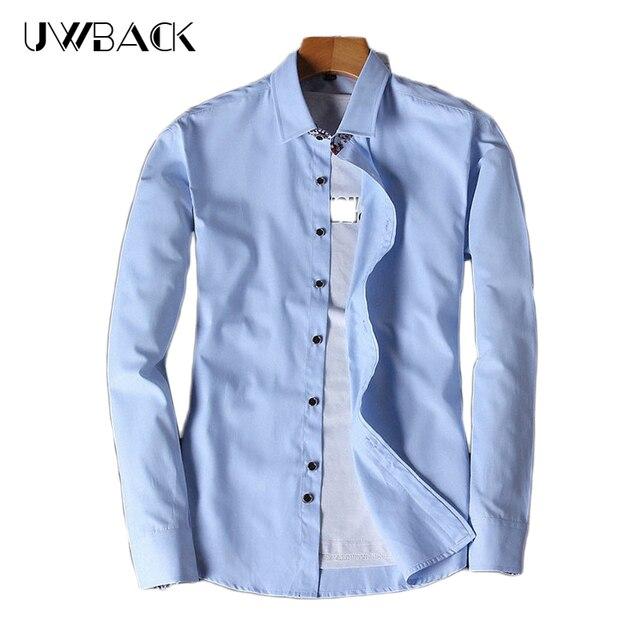 Heren Overhemd Casual.Uwback Mannen Casual Shirt Lange Mouw Heren Overhemd Katoen Effen