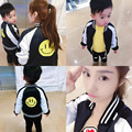 Familia resorte de la Ropa A Juego de Algodón Cara Sonriente de Manga Larga Outwear Emparejan Madre Hija Ropa de Abrigo Abrigos Casuales Suéter