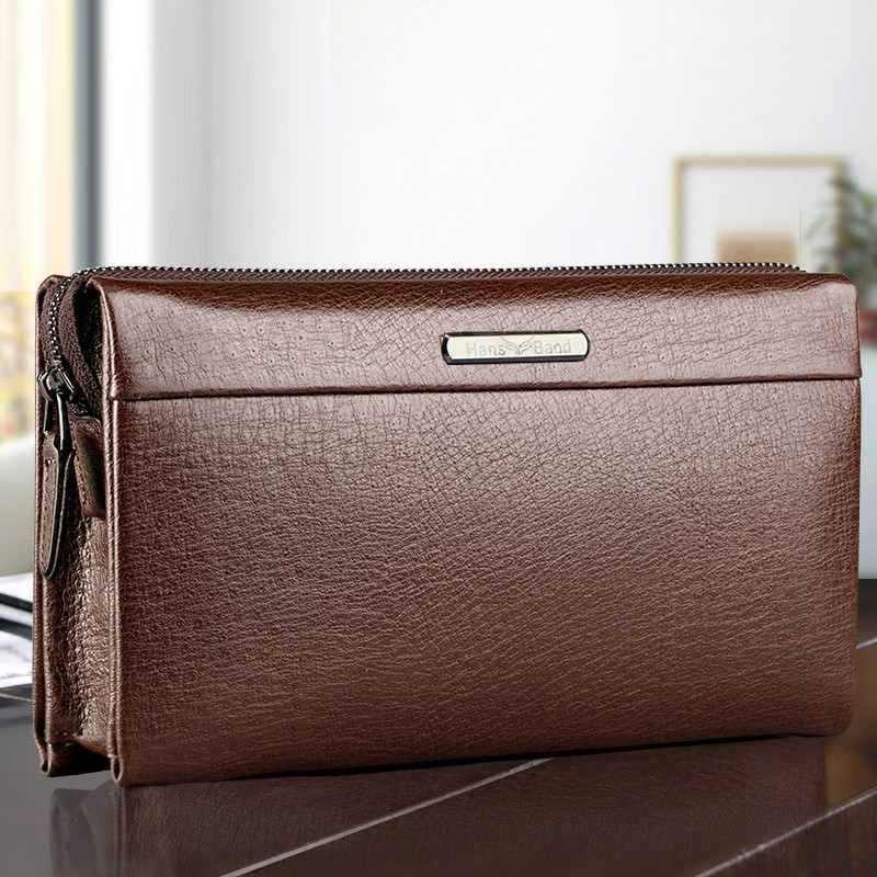 HansBand Hot Men Wallet Genuine Leather Purse Fashion Casual Long Business Male Clutch Wallets Men's Handbags Men's Clutch Bag цена 2017