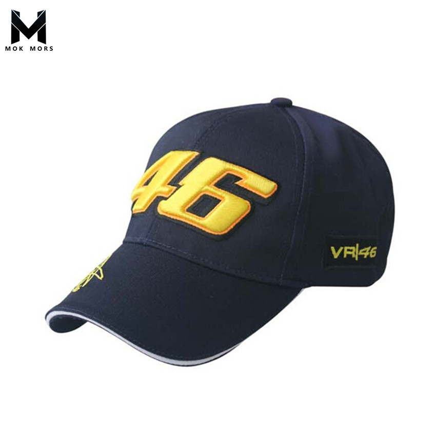 c49cfad88ec 2018 High Quality MOTO GP 46 Motorcycle 3D Embroidered Racing Cap Men Women  Snapback Caps Rossi VR46 Baseball Cap YAMAHA Hats