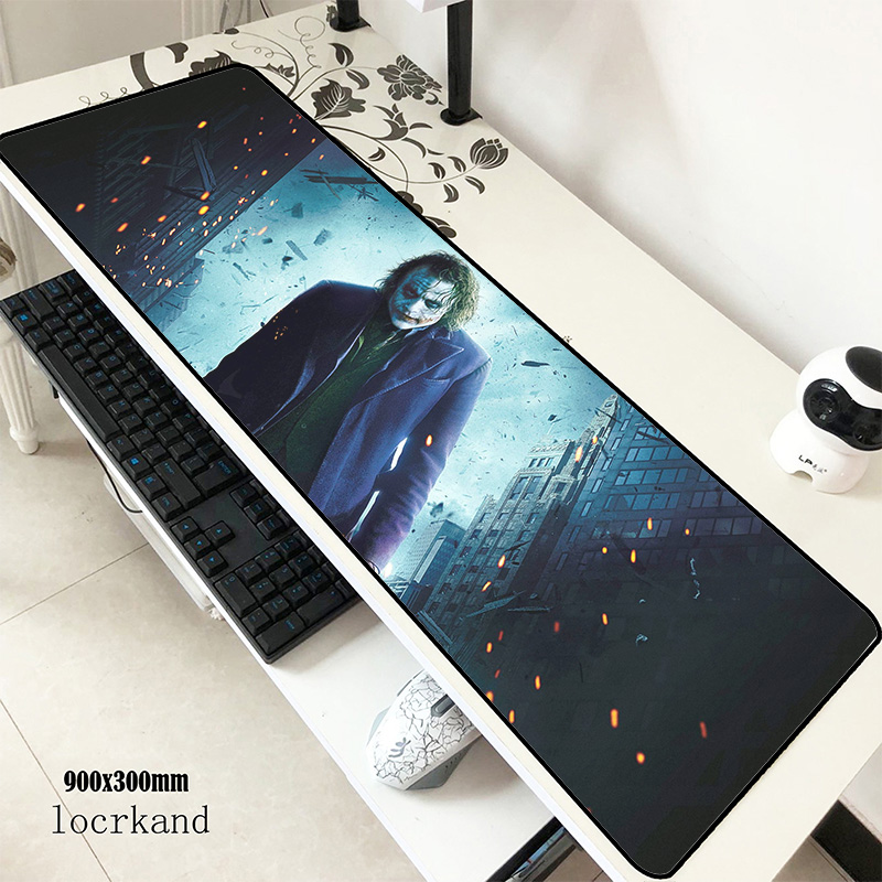 Joker Pad Mouse Computer Wrist Rest Gamer Mouse Pad 900x300x2mm Padmouse New Arrival Mousepad Ergonomic Gadget Office Desk Mats