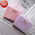 Hot! Brand Women Leather Wallets Lady Winter  New Fashion Lady Women Leather Wallet  Zip Around Wallet Card Holder Handbag