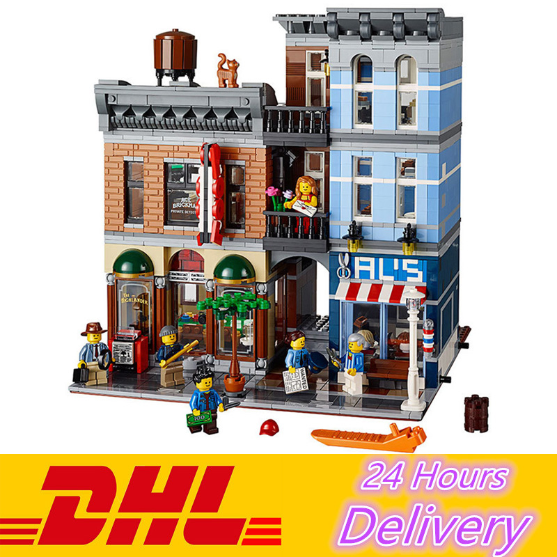 LELE 30008 2262Pcs City Street Detective's Office Model Building Blocks Bricks Toys Compatible LEPIN 15011 10246
