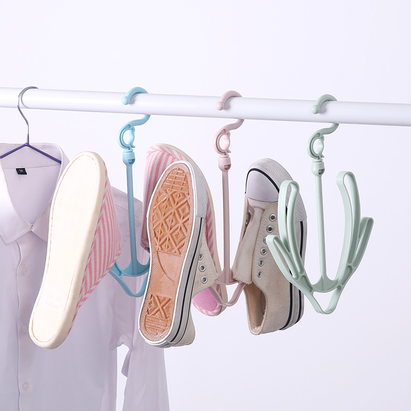 2019 Plastic Hangers For Shoes  Racks Drying Rack Hook Hanger Shoe Drying Rack Small Hanging Rack For Outdoor