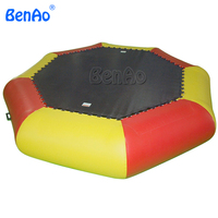 W140 BENAO 0.6mm 0.9mm Newest Inflatable Air Amusement Water Park Bouncy Games Trampoline For Kids