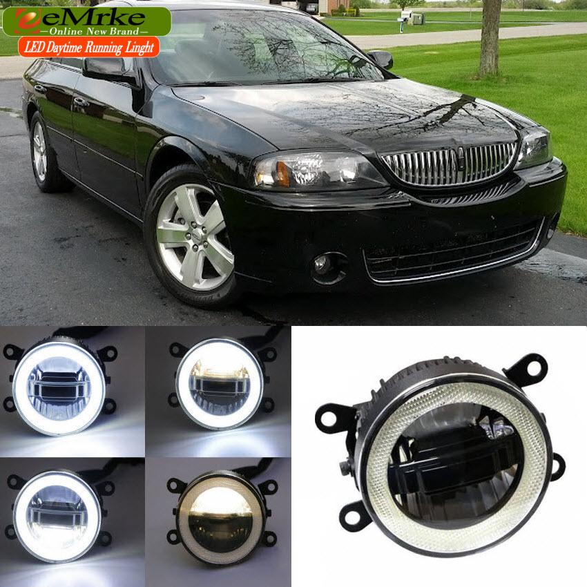 eeMrke For Lincoln LS 2005 2006 3 in 1 LED DRL Angel Eye Fog Lamp Car Styling High Power Daytime Running Lights Accessory eemrke car styling for opel zafira opc 2005 2011 2 in 1 led fog light lamp drl with lens daytime running lights