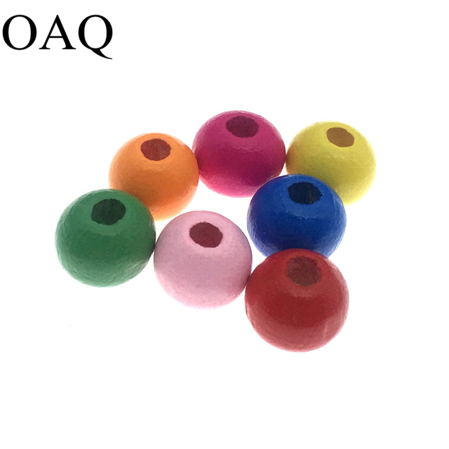 Diy Round Shape Natural Wooden Beads 8mm Ball Fashion Jewelry Bracelets Making Colorful Wood For