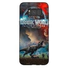 Silicone Cell Phone Case Samsung Galaxy A3 A5 A6 A7 A8 A9 A10 A30 A40 A50 A70 J6 Plus Cover Jurassic Park Dinosaur World