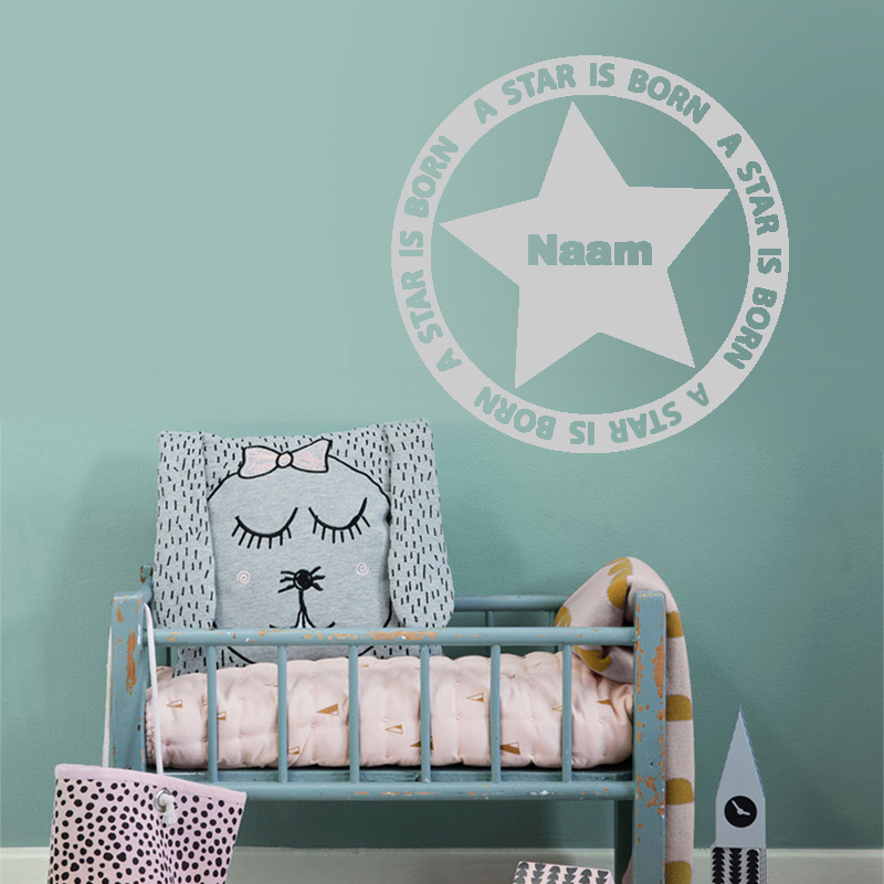 Personalized Customize A Stars Born Name Wall Sticker Decal Wallpaper Boy Girl Children Baby Room Stickers Name Home Decoration