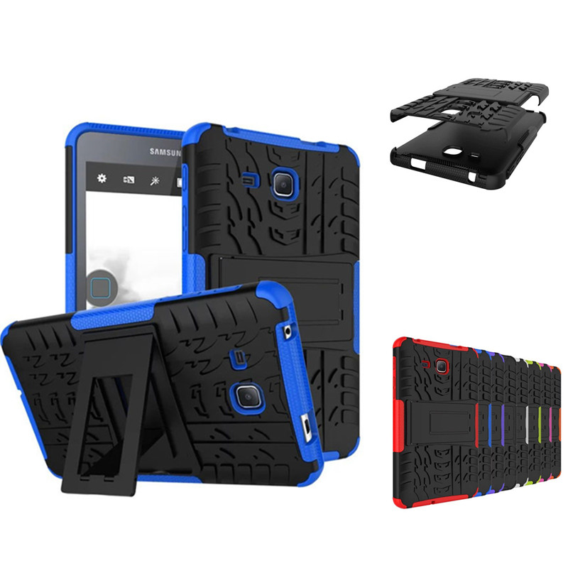 HH Heavy Duty Hybrid Armor Case Rugged PC+TPU Kickstand Cover For Samsung Galaxy Tab A 7.0 inch (2016) SM-T280 SM-T285 Tablet