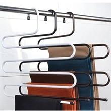 Многофункциональная металлическая Волшебная вешалка для брюк, стойка для хранения пространства, джинсовый шарф, галстук, шкаф, инструмент для удаления слаксов быстро и эффективно