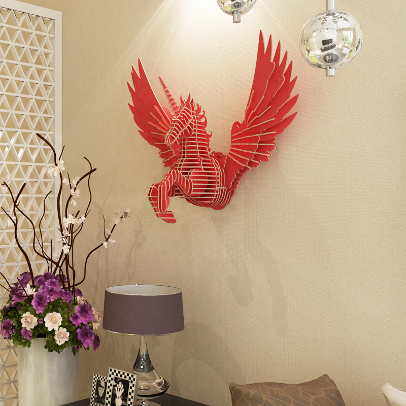 Aliexpress Com Buy Flying Unicorn Home Decoration Wall Art Diy Wooden Craft Wall Decor Home Decor Christmas Decoration From Reliable Dhl Pickup Suppliers