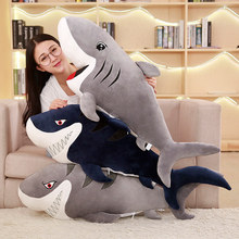 55-120cm Lifelike Giant Plush Sharks Toys Stuffed Animals Hammerhead Sharks Doll Pillows Cushion Toys for Children Birthday Gift 220cm stuffed animals giant removable crocodile doll for decorative pillows kids toys valentines day gift juguetes brinquedos