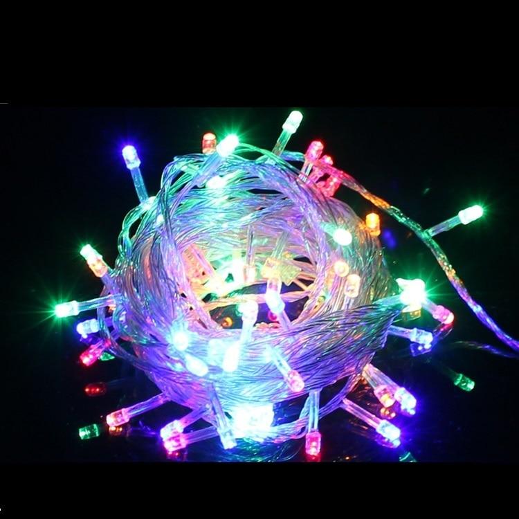 led Christmas lights garland Lights 100 LED 10M Christmas lights outdoor christmas ornaments AC 110V 220V cotton ball light Deco все цены