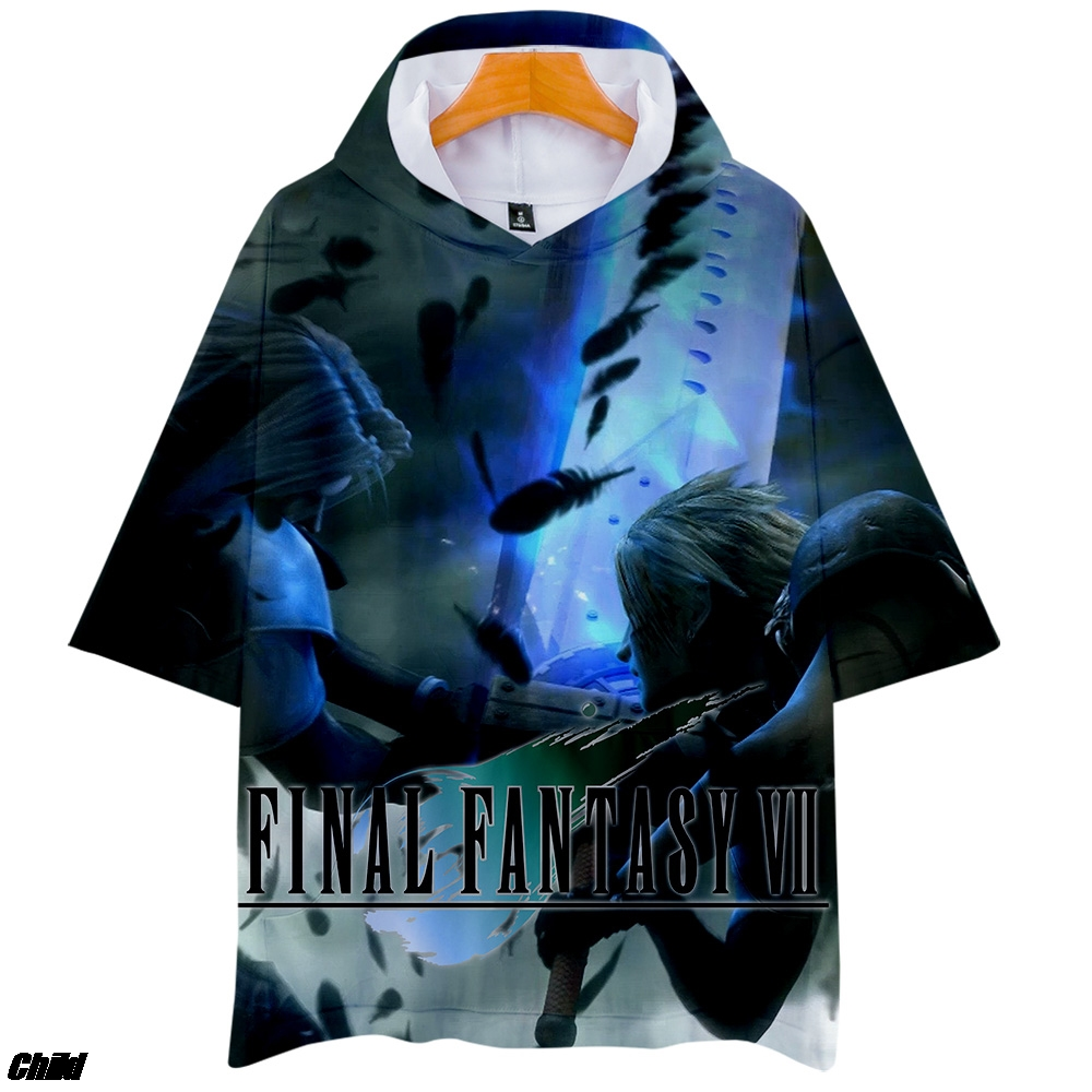 Final Fantasy X Men Classic Polyester Short Sleeve Shirt Anime T-Shirt