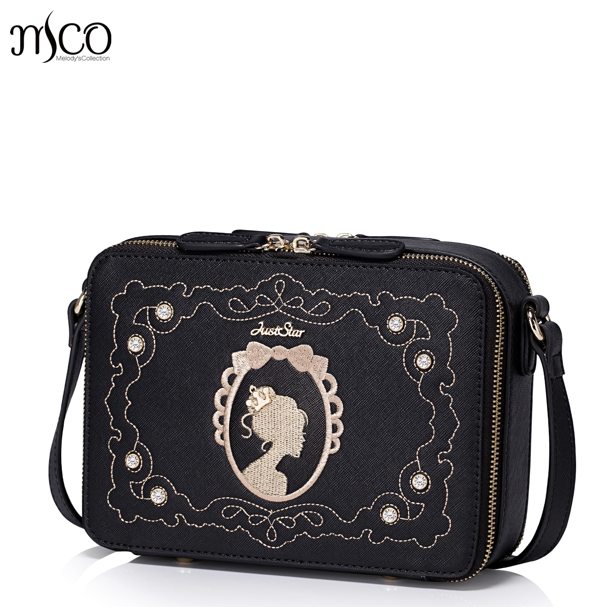 Magic Mirror Brand Fashion Vintage Diamonds Princess Women Handbag Shoulder Bag Small Messenger Bag Girls ladies Gifts bolsos