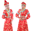 Women's robed mongolia female costume Stage dress dance clothes Mongolian style for woman