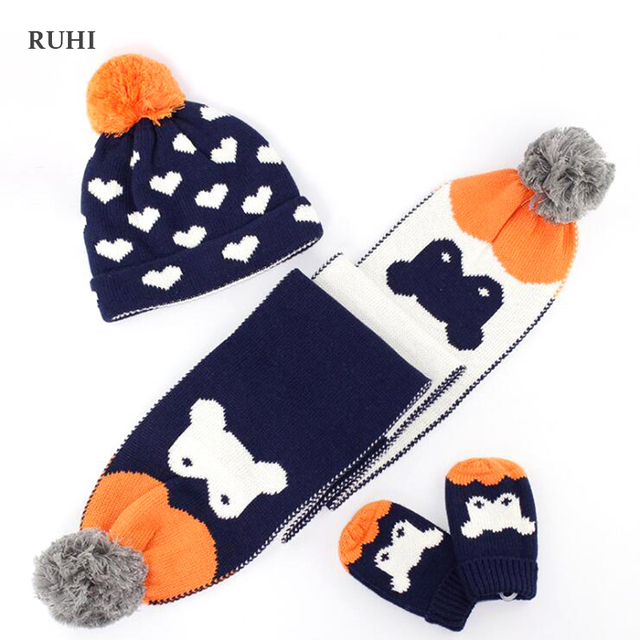 cfd7842a0c04 Aliexpress.com   Buy Christmas Gift Boy Girl Hat Scarf And Gloves ...