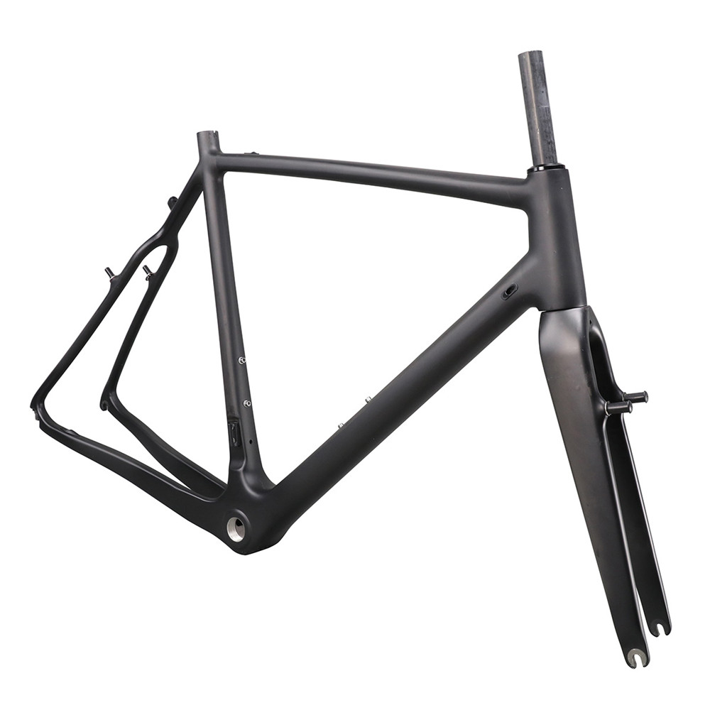 ICAN Big Discount Carbon T700 Cyclocross Frame V-brake Type UD Matt Or Glossy All Available With BSA/BB86 Di2 Compatible
