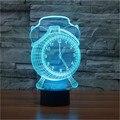 Despertador de La Lámpara 3D Visual LED Táctil Luz de La Noche para Los Niños botón de Escritorio USB Lampara ya que Además de Luz Lámpara Bebé Dormido En Casa decoración