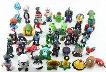 40pcs/set Plants vs Zombies PVC Action Figures 2.5-6.5cm PVZ Collection Figures Toys Gifts plant + zombies PZ015