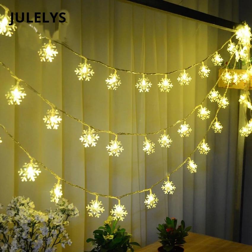 JULELYS 30M 300 bombillas Garland LED luces de la secuencia de nieve - Iluminación de vacaciones - foto 1