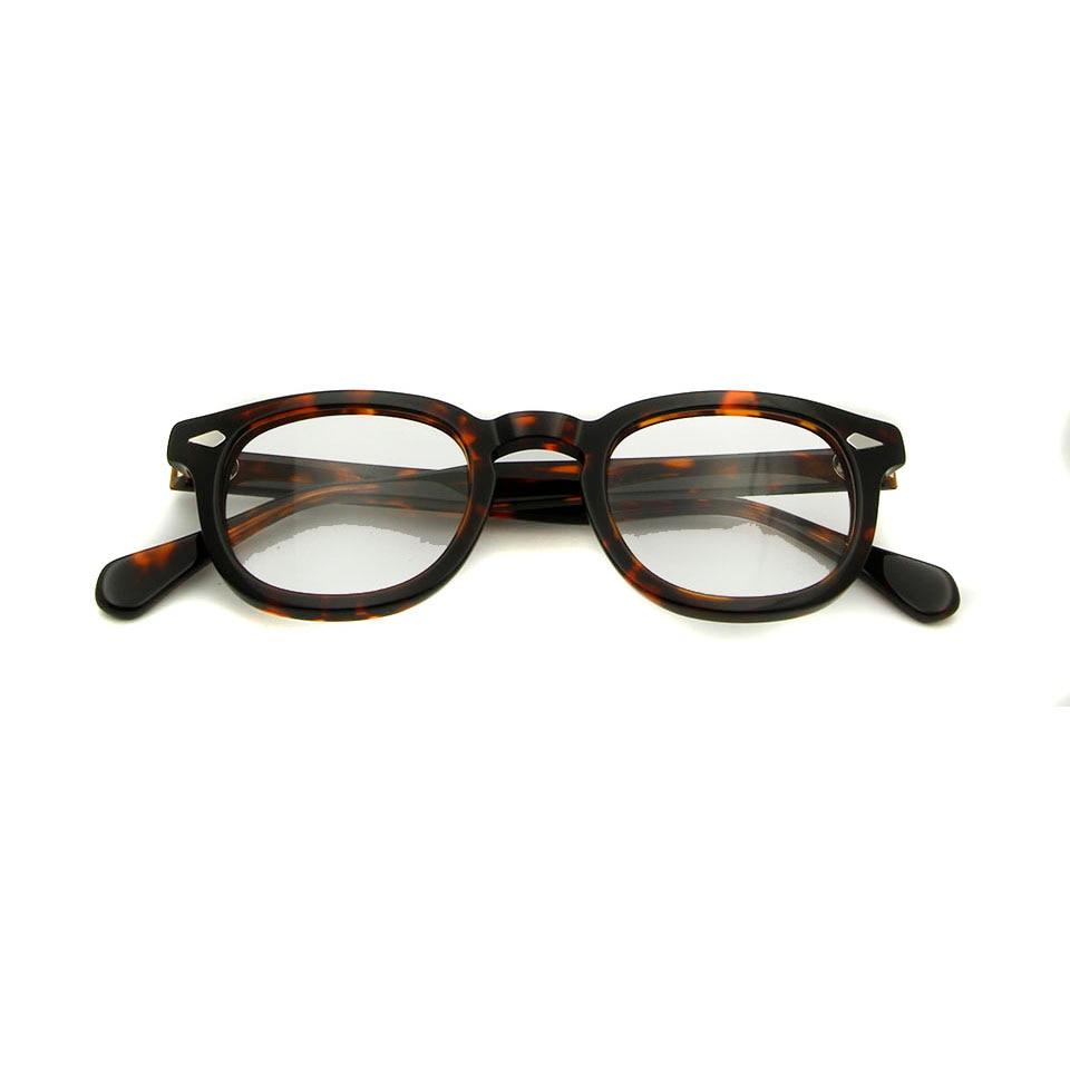 ced42f7289185 Nova Alta Qualidade Johnny Depp Óculos Moda Estilo Retro Rodada óculos  Vintage Óculos de Armação Homens Feitas À Mão Óculos oculos de grau em  Armações de ...