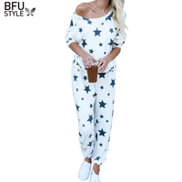 Women Autumn Winter Pajamas Soft Comfortable Printing Home Suit Women Cotton Pyjama Sleepwear Plus Size