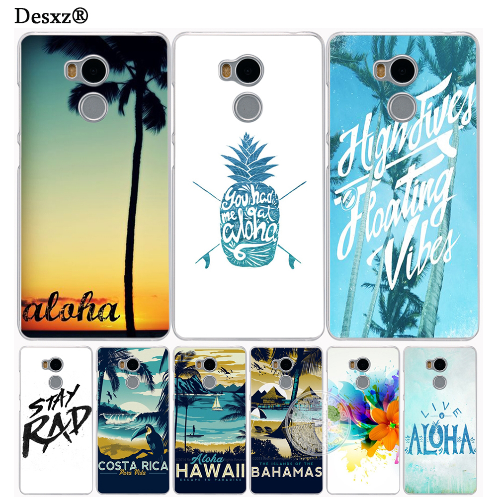 Desxz <font><b>Hawaii</b></font> Aloha tree Cover <font><b>phone</b></font> <font><b>Case</b></font> for Xiaomi redmi 4 1 1s 2 3 3s pro redmi note 4 4X 4A