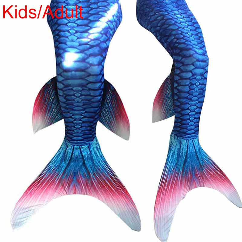 2016 Newest Kids Girl Swimmable Little Mermaid Tail