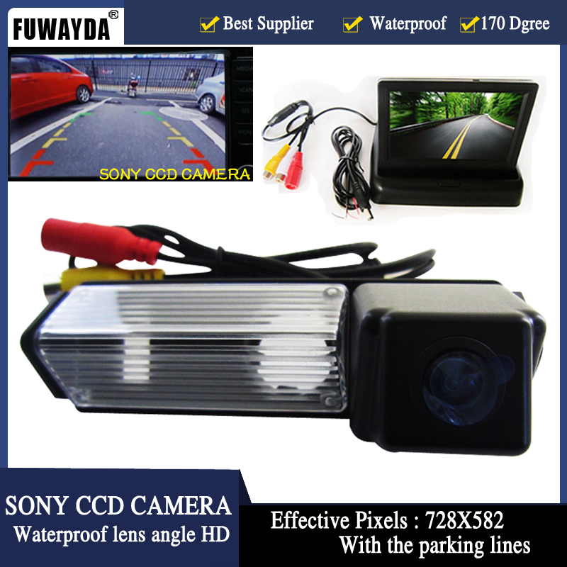 FUWAYDA 2ch Video 4 3 Foldable Tft Lcd Color Camera With HD CCD Car Rear View