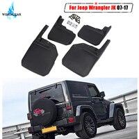 4x передние задние брызговики для Jeep Wrangler JK спортивные X сахара Rubicon Unlimited 2007-2017 Брызговики WISENGEAR/