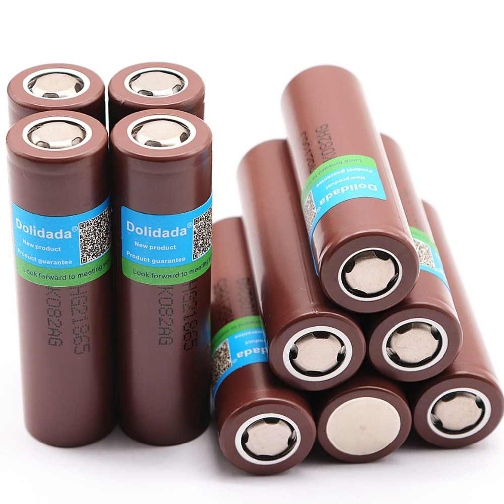 Dolidada 100% оригинальный 18650 аккумуляторная батарея для LG HG2 18650 3000 мА/ч, литий-ионный аккумулятор использовать электронная сигарета