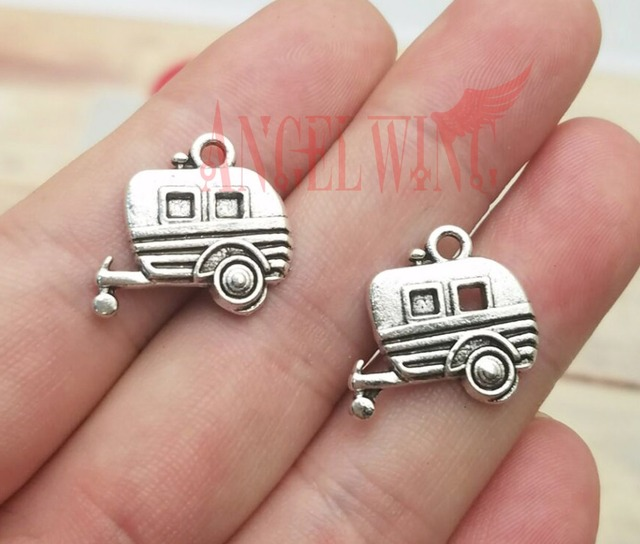 US $2 49 |Aliexpress com : Buy 10pcs/lot 19x17mm, Camper Trailer  chams,Antique silver plated Travel Trailer camper charms,DIY supplies,  Jewelry