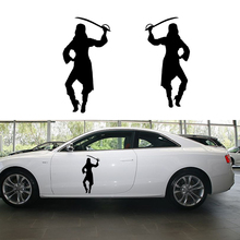 2 X Medieval Beautiful Girls Pick Up Their Weapons To Protect Peace Art Car Stickers for Suv Rv Truck Door Vinyl Decal 9 Colors