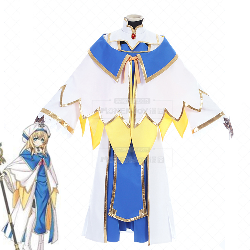 Anime Goblin Slayer Onna Shinkan Cosplay Costume Priestess Perucas Women Cosplay Dress Girl Uniform Party Costume Custom Made