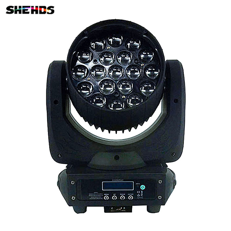 LED 19x15W RGBW Wash/Zoom Light Professional DJ/Bar LED Stage Machine DMX512 Moving Head Light LED Zoom Beam Moving Head Light 19 12w high power led rgbw wash light 16 channels ac90 240v moving head light professional stage