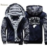 Game of Thrones Valar Morghulis Hoodie Men Cool Hooded Sweatshirt Coat Winter Thick Fleece Warm Wolf Jacket Brand Streetwear