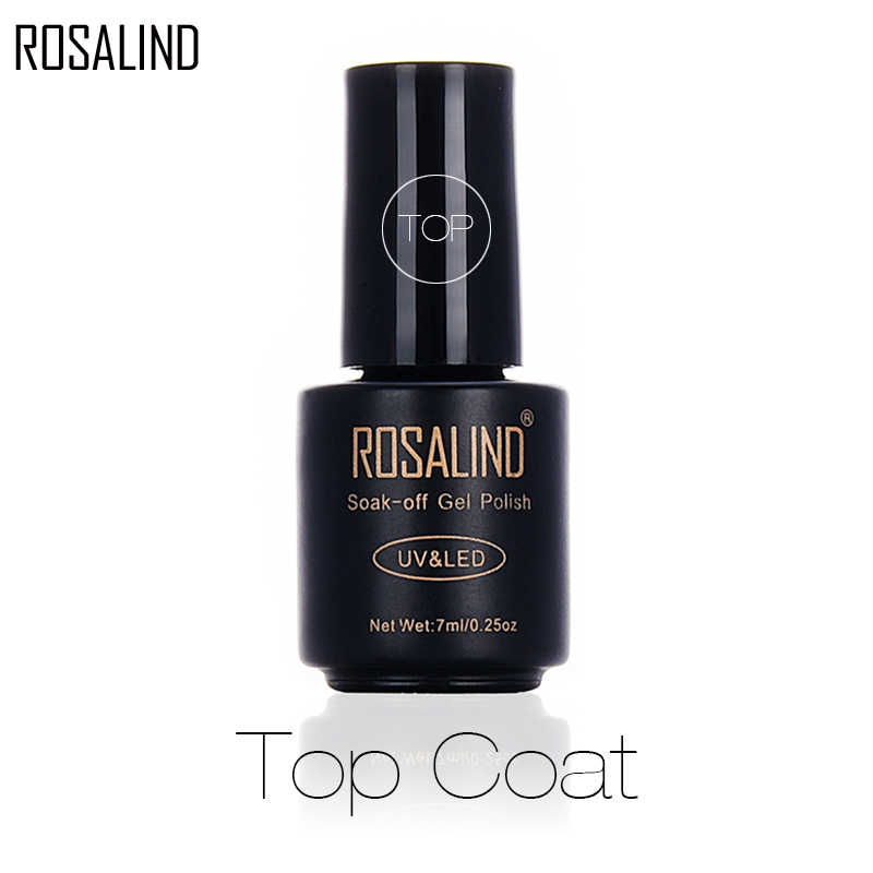 ROSALIND-esmalte para uñas de Gel UV, laca Gel semipermanente para capa superior en Gel UV 7ml