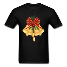 Прочный Шарм рождественские колокольчики Спортивная футболка мужские футболки подарок футболка Милая с коротким рукавом сумасшедшая Спортивная футболка