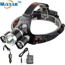 ZK30 9000LM Lumen LED Lighting Head Lamp XML T6 Headlight Hunting Camping Fishing Light T6 LED headlamp
